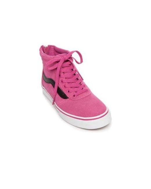 49a2bd1518b6 Lyst - Vans Maddie Hi Zip Sneaker in Pink
