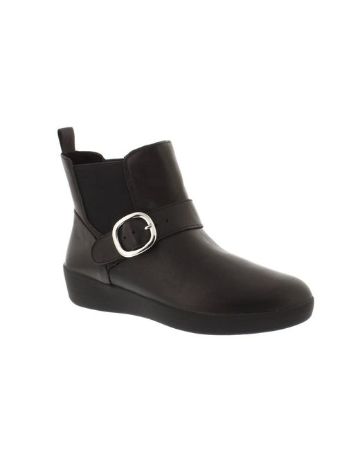 Fitflop - Black Superbuckle Chelsea Boot - Lyst