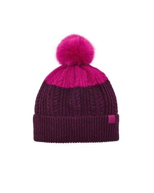Joules | Red Two Tone Bobble Hat | Lyst