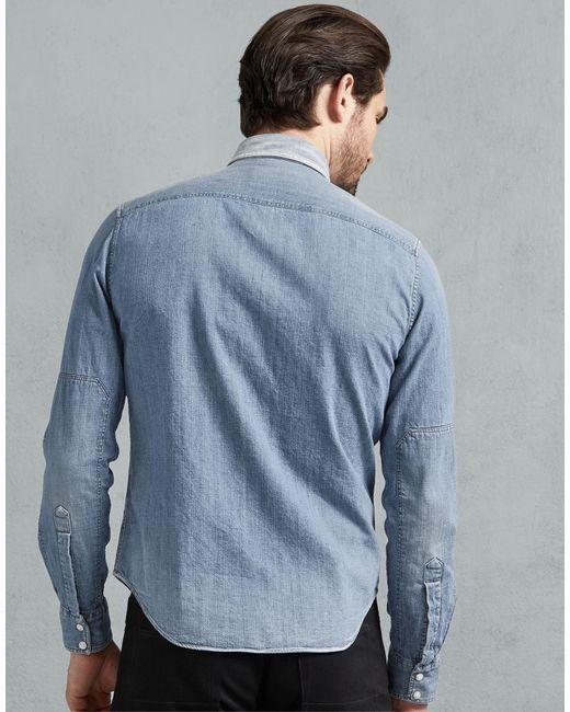 8f0945e503d ... Belstaff - Blue Somerford Shirt for Men - Lyst ...