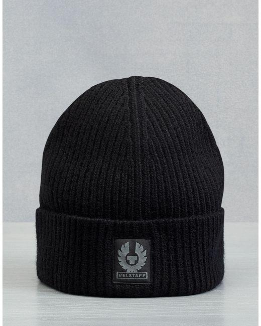 70fd9644908 Belstaff - Black Seabrook Knitted Hat for Men - Lyst ...