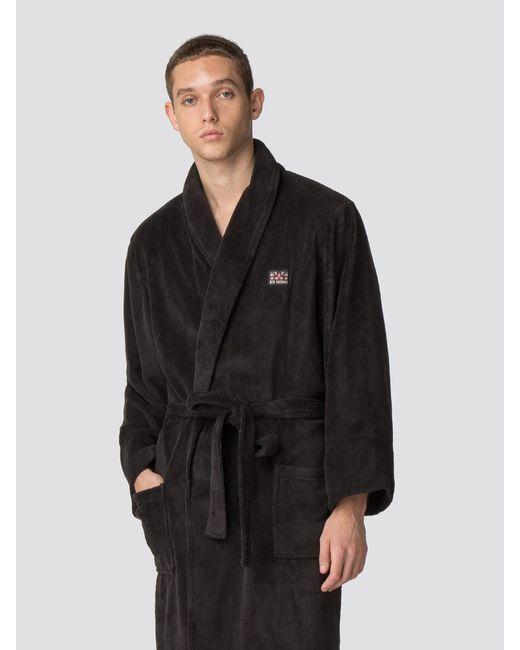 Ben Sherman - Black Henry Dressing Gown for Men - Lyst ... 0616c650c