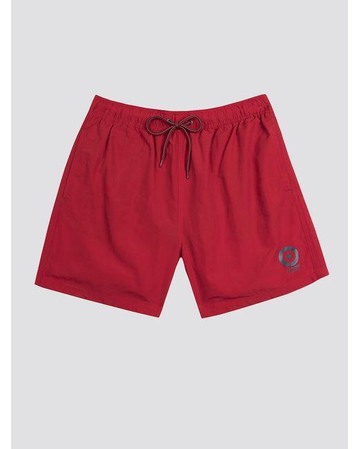Coral//Navy//Turquoise Ben Sherman 3-Pack Large Logo Mens Boxer Trunks