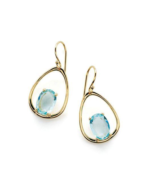 Ippolita - Blue 18k Rock Candy Wire Earring - Lyst