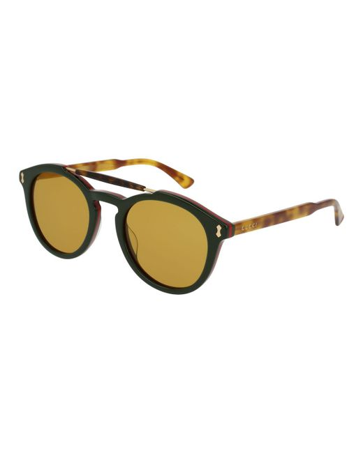 Gucci   Green Vintage Round Acetate Sunglasses   Lyst