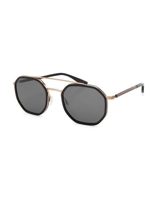 Barton Perreira | Black Themis Octagonal Sunglasses | Lyst