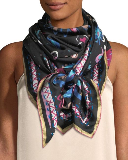 Jane Carr - Blue The Fauve Silk Twill Square Scarf - Lyst
