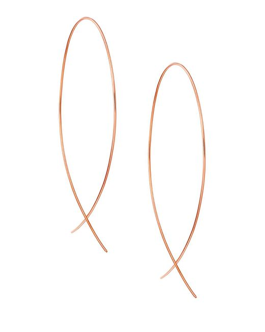 Lana Jewelry - Metallic Large Upside Down Hoop Earrings In 14k Gold - Lyst
