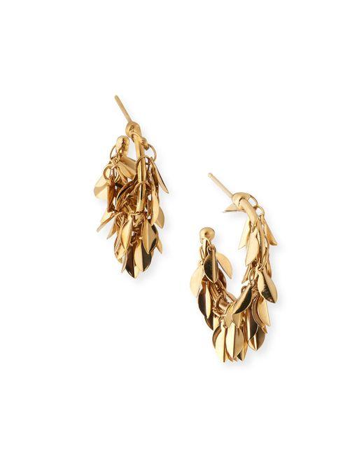 Rosantica Metallic Stella Dangle Hoop Earrings