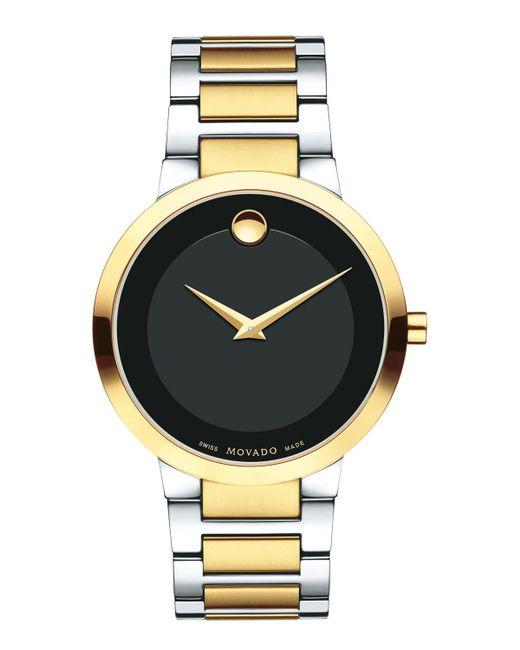 Movado - Metallic Modern Classic Two-tone Stainless Steel Bracelet Watch for Men - Lyst