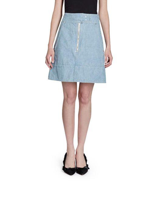 Isabel Marant - Blue Natalia High-waist Cargo Pocket Chambray Skirt - Lyst