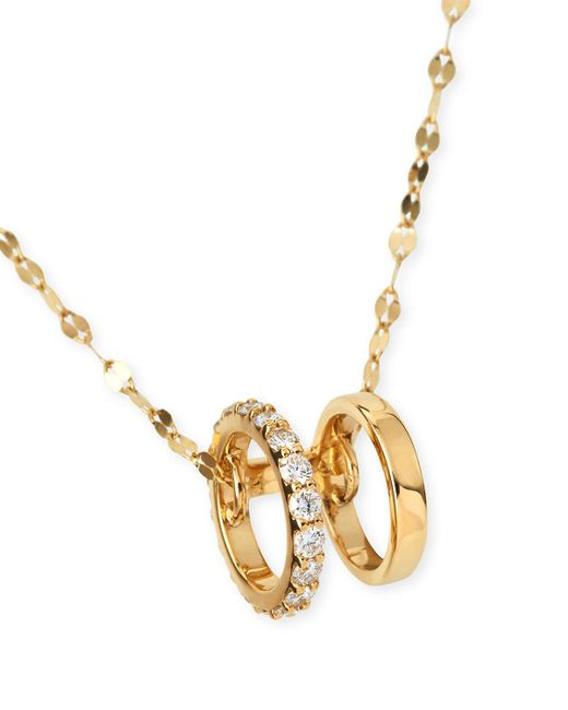 Lana Jewelry | Black Small Dare Flawless Necklace In 14k Gold | Lyst