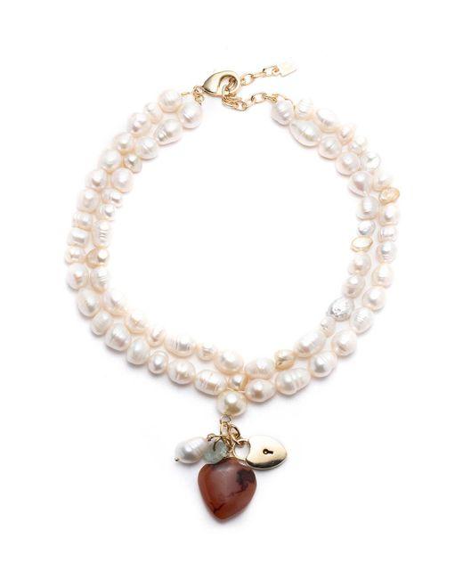 DANNIJO Metallic Seina Pearl 2-strand Pendant Necklace