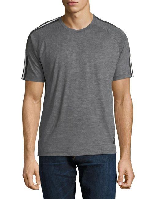 Zegna Sport   Gray Techmerino Jersey Short-sleeve T-shirt for Men   Lyst