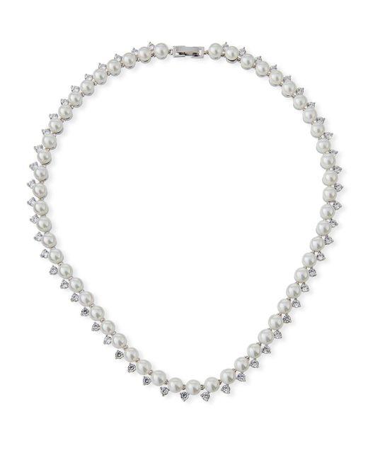 Fallon - Metallic Micro Pearl Collar Necklace - Lyst