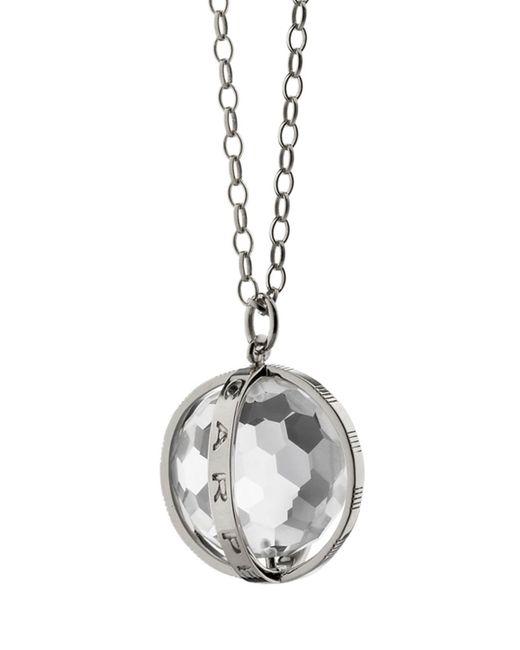 Monica Rich Kosann - Metallic Extra Large Silver Carpe Diem Pendant Necklace - Lyst