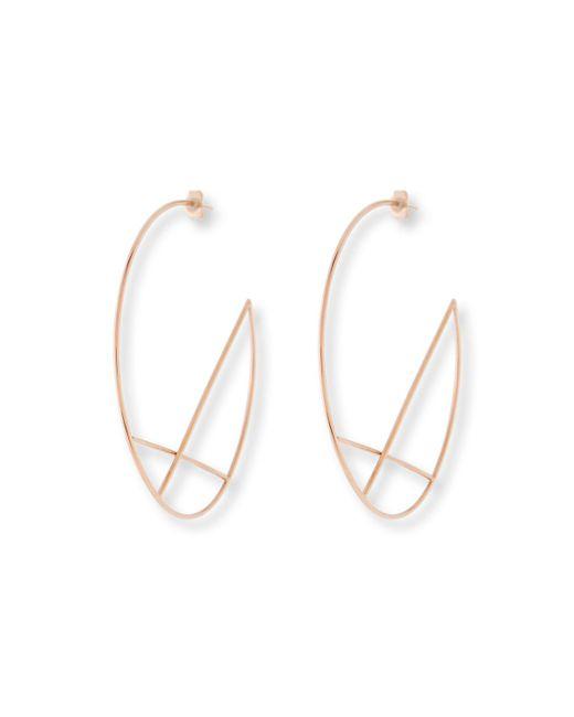 Lana Jewelry - Metallic 14k Wire Diagonal Cross Eclipse Hoop Earrings - Lyst