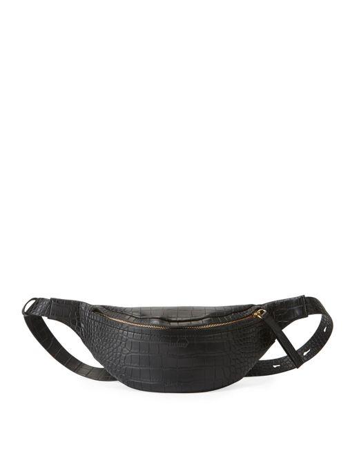Nanushka Black Croc-embossed Lubu Belt Bag