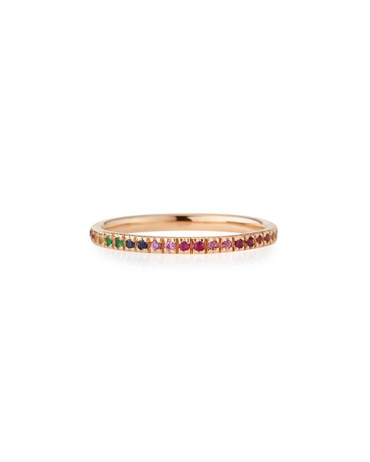 Sydney Evan | Metallic 14k Rose Gold Rainbow Ring | Lyst
