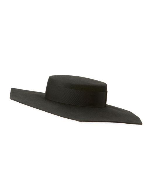 Eugenia Kim | Black Atlas Geo Wool Boater Hat | Lyst
