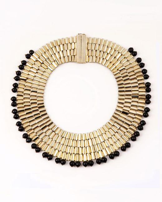 Rosantica - Metallic Cleopatra Beaded Collar Necklace - Lyst