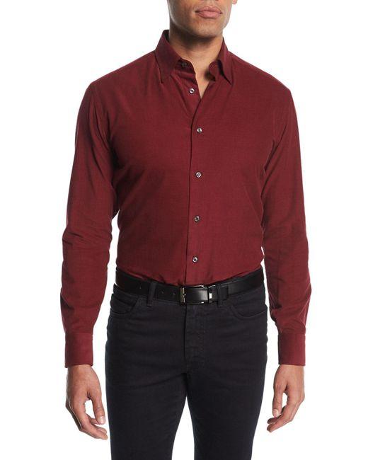 Brioni | Red Corduroy Sport Shirt for Men | Lyst