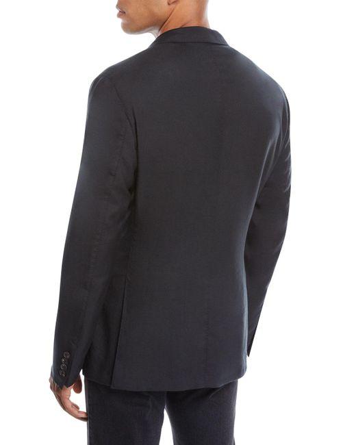 ce882df2 Black Men's Cashmere-silk Two-button Blazer Jacket