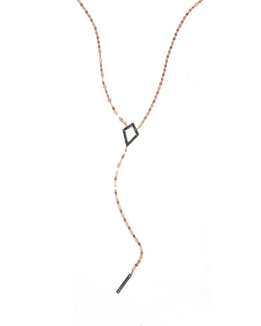 Lana Jewelry   Black Reckless Diamond Bar Lariat Necklace   Lyst
