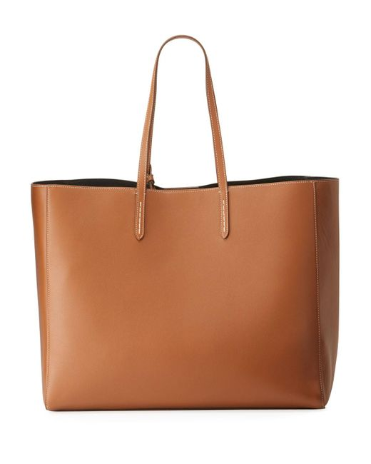 Ralph Lauren Brown Smooth Leather Tote Bag