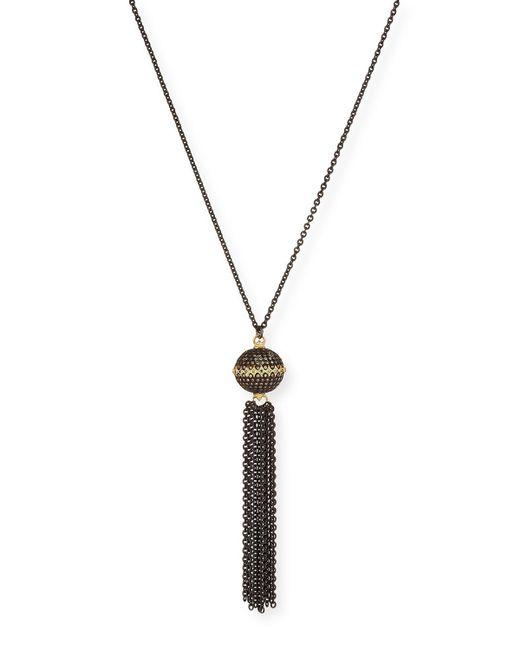 Armenta - Multicolor Old World Pavé Diamond Ball Tassel Necklace - Lyst