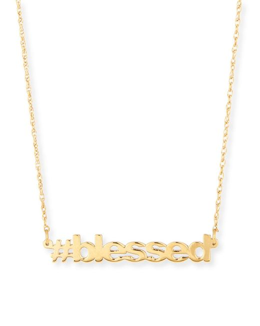 Jennifer Zeuner | Metallic 18k Gold Vermeil #blessed Necklace | Lyst