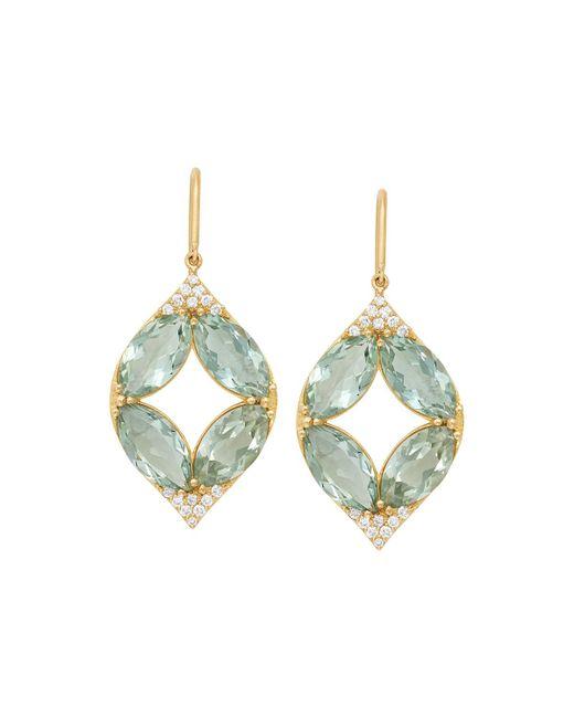 Jamie Wolf - Metallic 18k Marquise Oval Aladdin Earrings W/ Green Amethyst & Diamonds - Lyst
