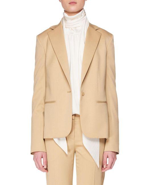 The Row - Yellow Felmon Single-breasted One-button Stretch-wool Blazer - Lyst