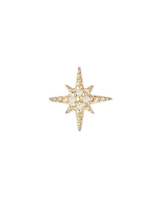 Sydney Evan - Metallic Starburst Diamond Single Stud Earring - Lyst