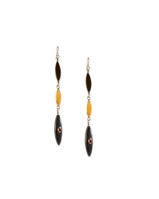Ashley Pittman - Multicolor Tarabu Linear Dark Horn & Bronze Drop Earrings - Lyst