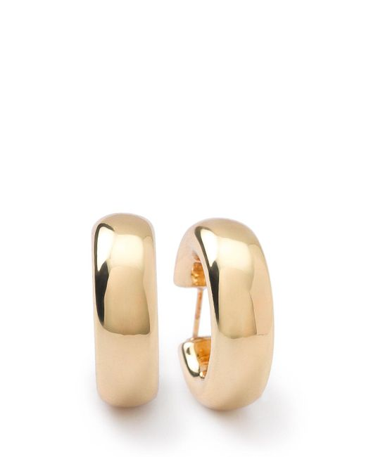 Ippolita   Metallic 18k Glamazon Thick Small Flat Hoop Earrings   Lyst