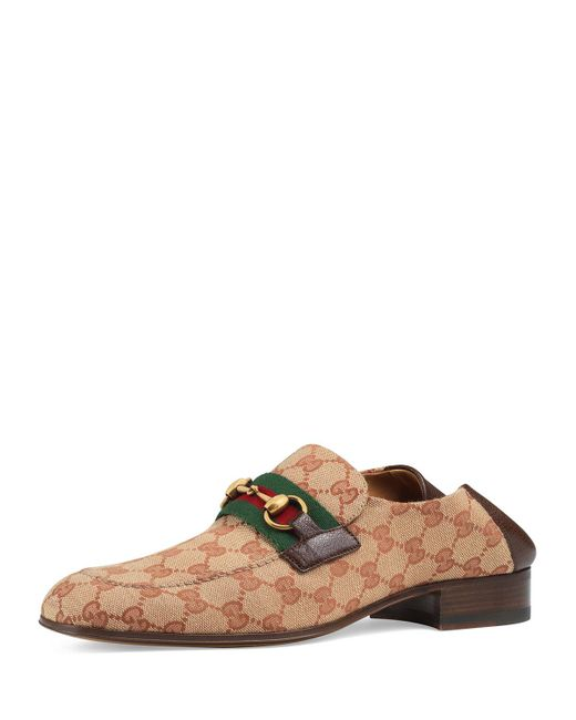 1819f154c80 Gucci - Natural Horsebit Collapsible Leather Loafer for Men - Lyst ...