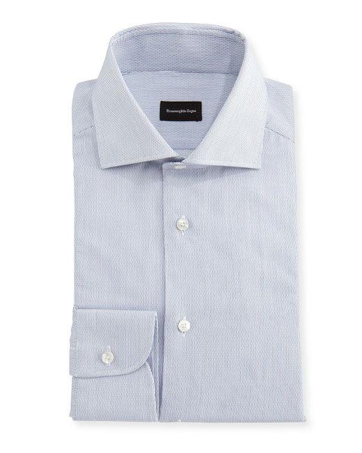 Ermenegildo Zegna | White Micro-stripe Cotton Dress Shirt for Men | Lyst