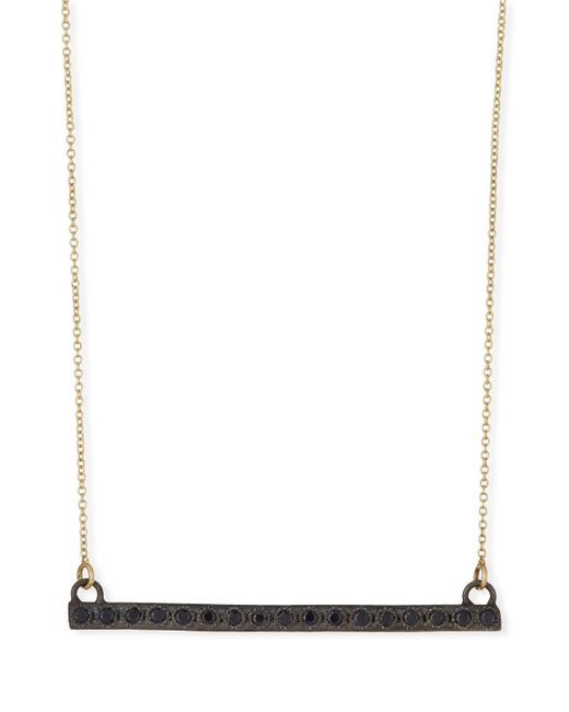 Armenta - Old World Midnight Black Sapphire Bar Pendant Necklace - Lyst