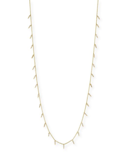 Sydney Evan | Metallic Pavé Diamond Fringe Drop Necklace | Lyst