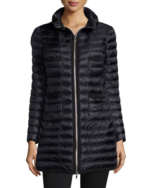 Moncler | Black Quilted Four-pocket Down Coat | Lyst
