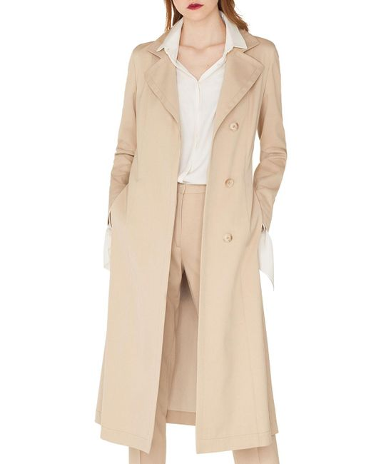 Akris - Natural Teri Single-breasted Belted Cotton-silk Gabardine Trench Coat - Lyst
