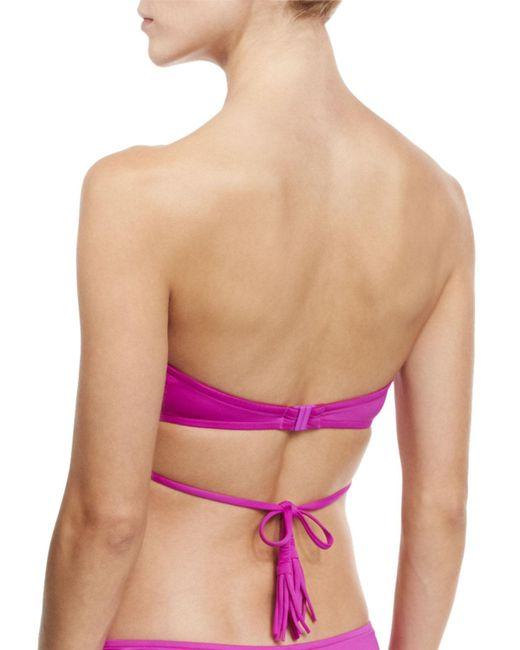 Seafolly | Purple Wrap-front Bandeau Swim Top | Lyst