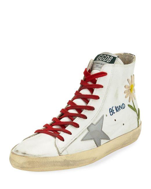 Golden Goose Deluxe Brand - White Francy High-top Star Sneakers for Men - Lyst