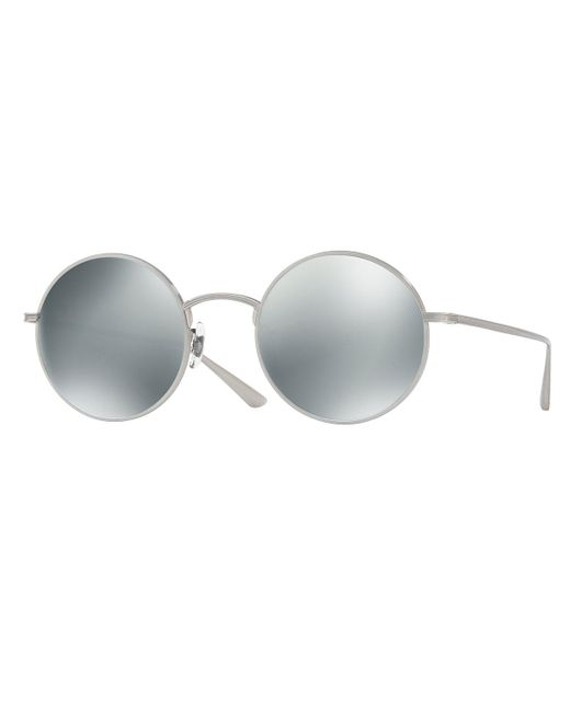 Oliver Peoples - Gray After Midnight Round Sunglasses - Lyst