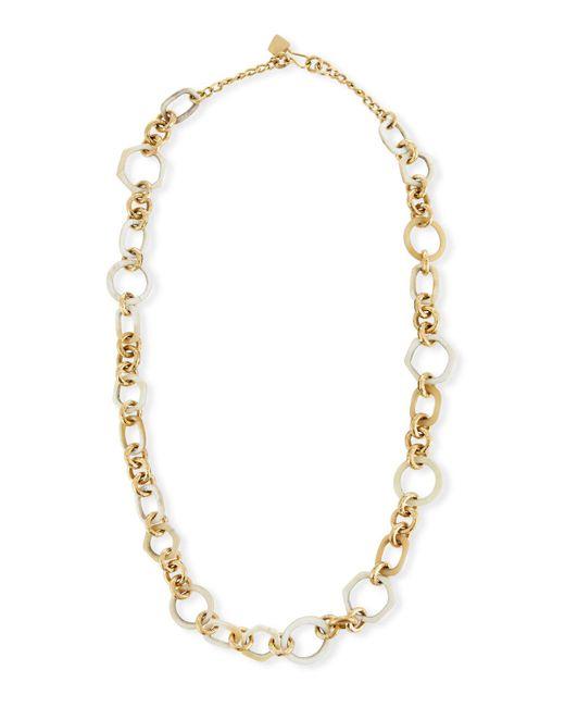 Ashley Pittman White Shauri Light Horn Link Necklace