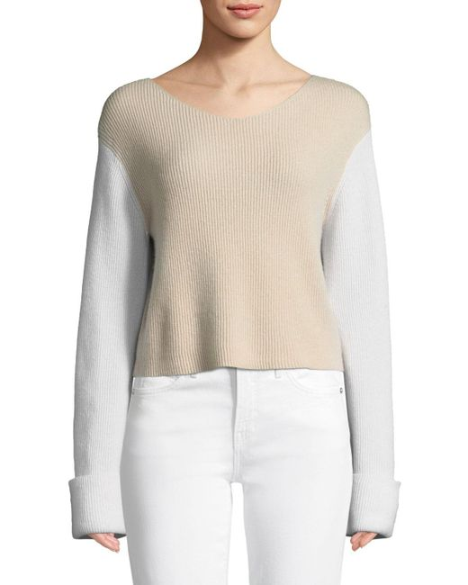 Vince - Multicolor Colorblock Cashmere Pullover Top - Lyst