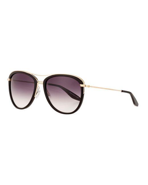 Barton Perreira | Black Aviatress Universal-fit Aviator Sunglasses | Lyst