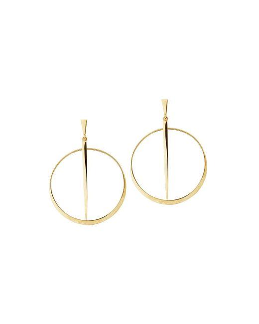 Lana Jewelry - Metallic Small 14k Sheer Hoop Earrings - Lyst