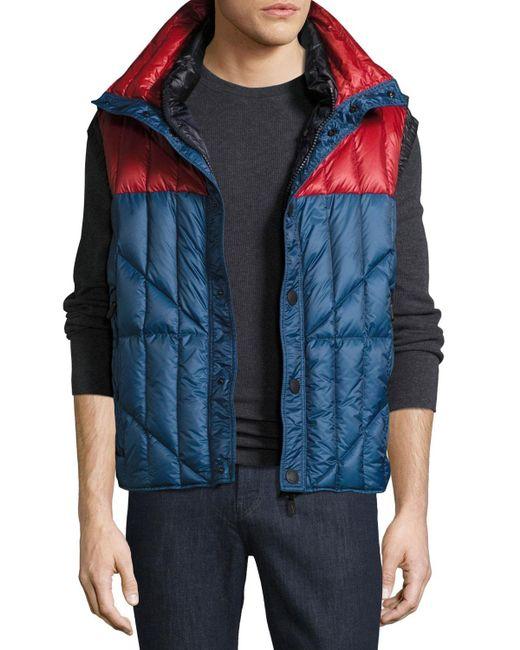 e282a803407a4 Moncler Grenoble - Blue Tux Vest for Men - Lyst ...